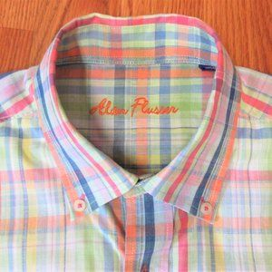 ALAN FLUSSER REGULAR FIT 100% COTTON BUTTON SHIRT